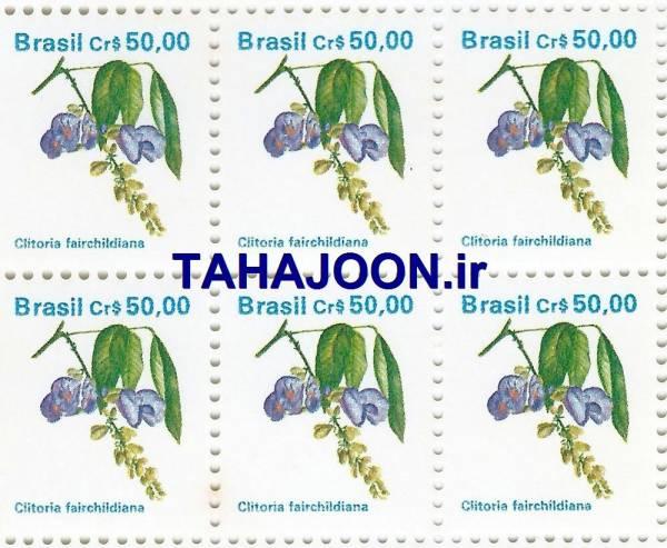 ورق 110 عددی تمبر کمیاب برزیل (زیر قیمت)
