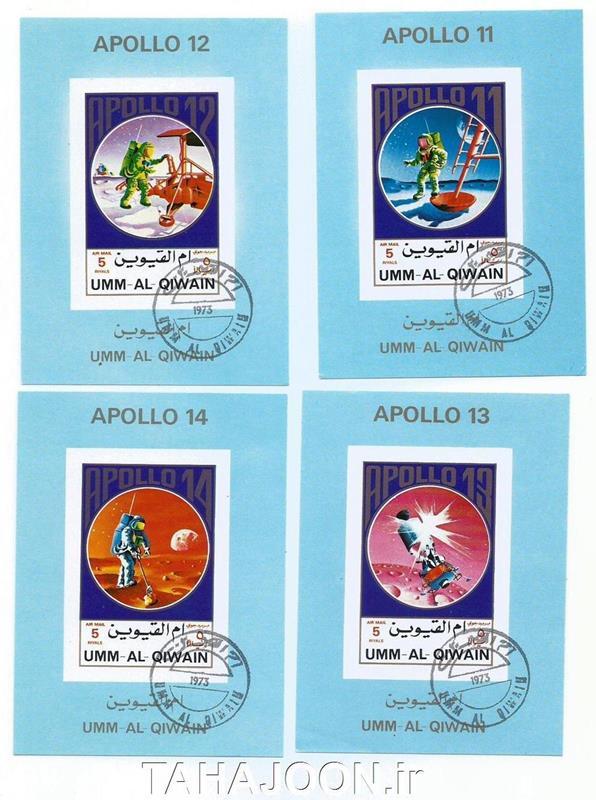 4 عدد مینی شیت یادبود فضاپیماهای آپولو (1)