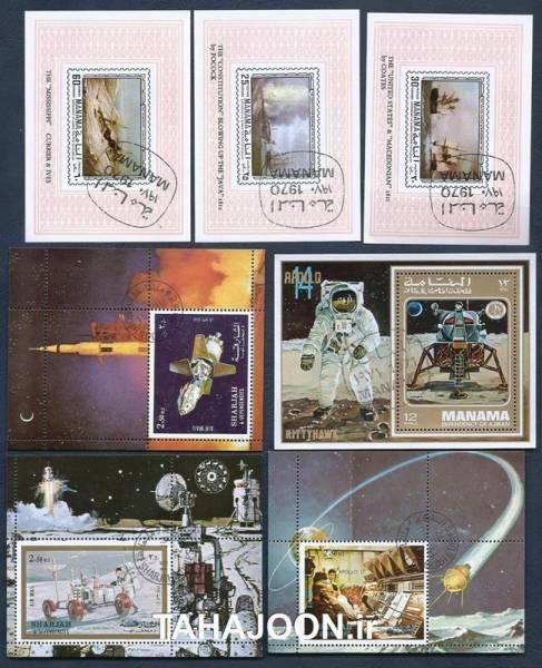 7 عدد مینی شیت یادبود فضاپیماهای آپولو (6)