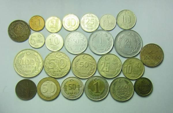 مجموعه سکه های ترکیه (24 سکه بدون تکرار)