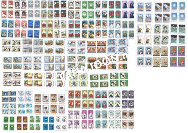 268 تمبر (67 بلوک) بدون تکرار جمهوری اسلامی ایران