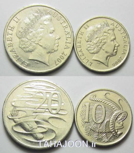 سری سکه های استرالیا _10-20 سنت (1)