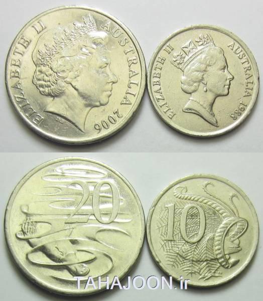 سری سکه های استرالیا _10-20 سنت(2)